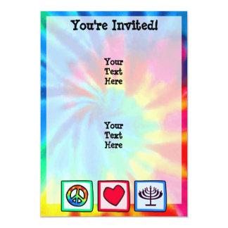 Peace, Love, Hanukkah 13 Cm X 18 Cm Invitation Card