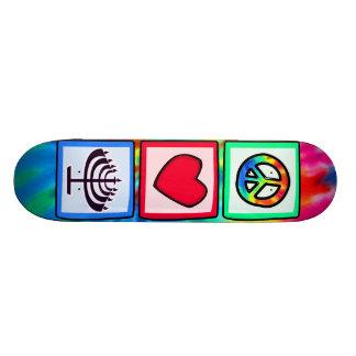 Peace, Love, Hanukkah 21.6 Cm Skateboard Deck