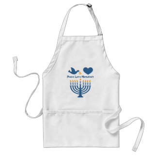 Peace Love Hanukkah Apron