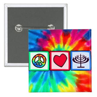 Peace, Love, Hanukkah Pinback Button
