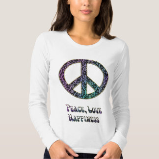 Peace Love Happiness and Psychedelic Lace Tees