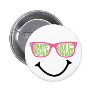 Peace & Love & Happiness 6 Cm Round Badge