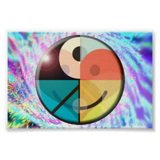 Peace, Love, Happiness, Harmony Poster