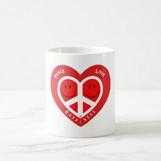 Peace Love & Happiness II Basic White Mug