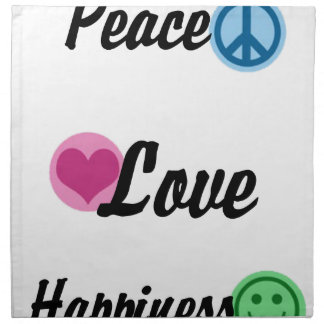 Peace Love Happiness Napkin