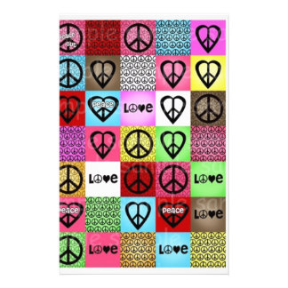 peace love happiness:) personalised stationery