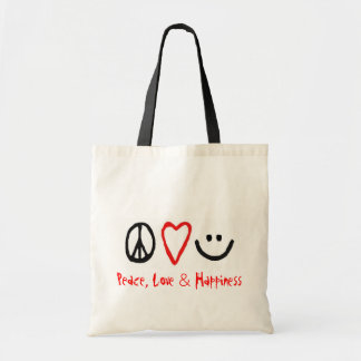 Peace, Love & Happiness Tote Bag