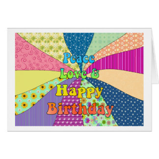 Peace Love & Happy Birthday Cards