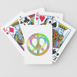 Peace Love Happy New Year Bicycle Playing Cards