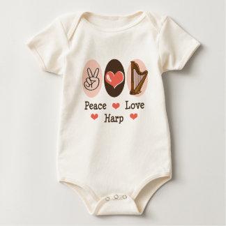 Peace Love Harp Baby Romper Baby Bodysuit