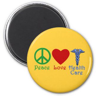 Peace Love Healthcare Products 6 Cm Round Magnet