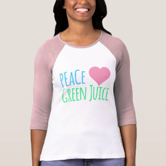 Peace Love Heart Green Juice T-Shirt