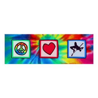 Peace, Love, High Jump Posters