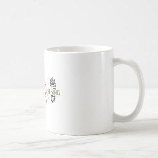 Peace Love Hiking Basic White Mug