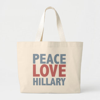 Peace Love Hillary Jumbo Tote Bag