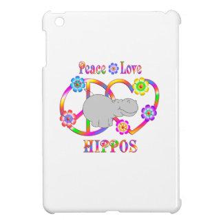 Peace Love Hippos iPad Mini Case