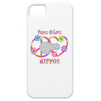 Peace Love Hippos iPhone 5 Case