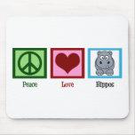 Peace Love Hippos Mousepad