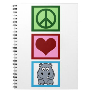 Peace Love Hippos Notebook