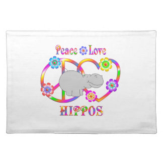 Peace Love Hippos Placemat