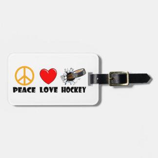 Peace Love Hockey Luggage Tag