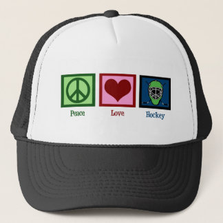 Peace Love Hockey Trucker Hat