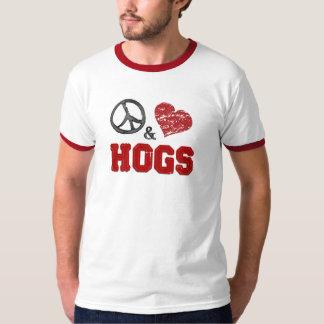 Peace, Love & Hogs T-Shirt