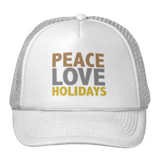 Peace Love Holidays Christmas Design Mesh Hat
