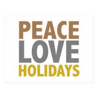 Peace Love Holidays Christmas Design Postcard