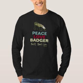 Peace Love (Honey) Badger Long Sleeve T-Shirt