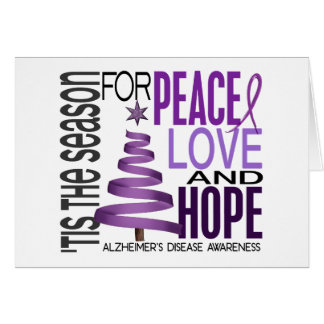 Peace Love Hope Christmas Alzheimer's Disease Card