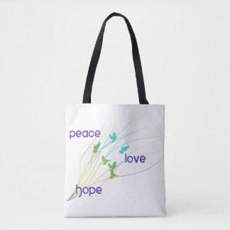 Peace Love Hope Tote Bag