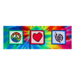 Peace, Love, Horns Poster
