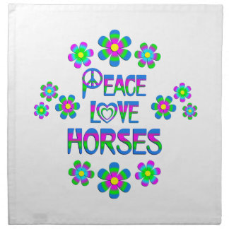 Peace Love Horses Napkins