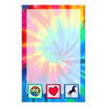 Peace, Love, Horses Stationery Design