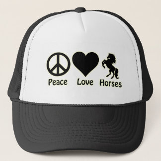 Peace Love Horses Trucker Hat