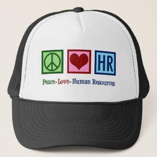 Peace Love Human Resources HR Trucker Hat