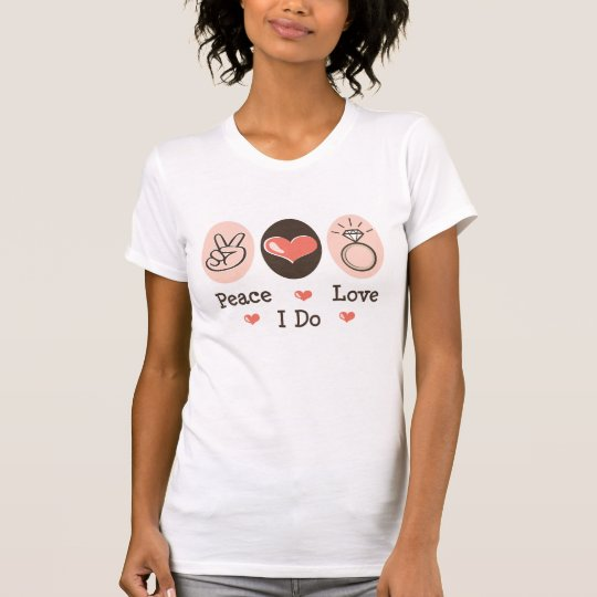 Peace Love I Do Bridal Distressed Tee