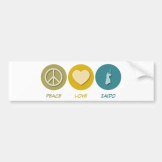 Peace Love Iaido Bumper Sticker