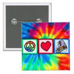 Peace, Love, Ice Skate Badges