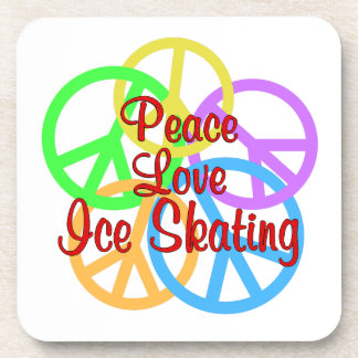 Peace Love Ice Skating Beverage Coaster