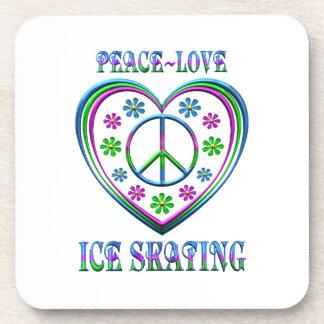 Peace Love Ice Skating Coaster