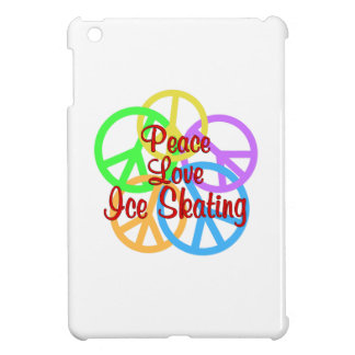 Peace Love Ice Skating iPad Mini Cases
