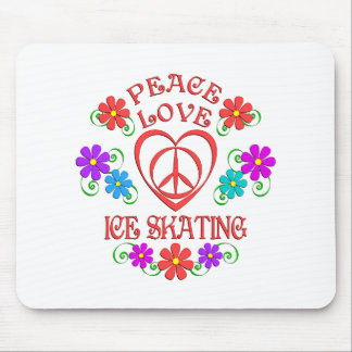 Peace Love Ice Skating Mouse Pad