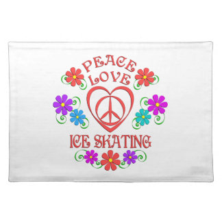 Peace Love Ice Skating Placemat