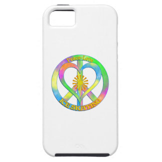 Peace Love Ice Skating Tough iPhone 5 Case