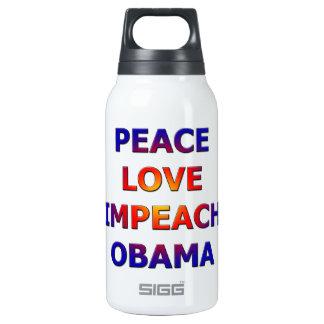 Peace Love Impeach Obama 0.3L Insulated SIGG Thermos Water Bottle