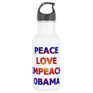 Peace Love Impeach Obama 532 Ml Water Bottle