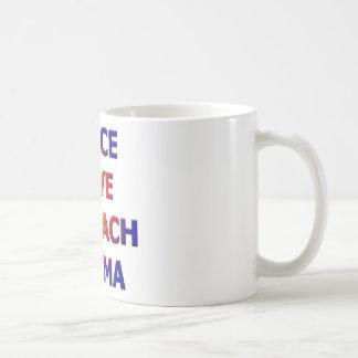 Peace Love Impeach Obama Basic White Mug
