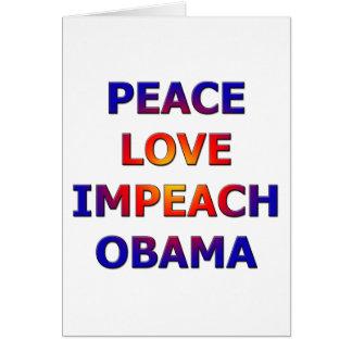 Peace Love Impeach Obama Cards